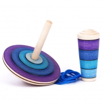 Mader My First Spinning Top With Starter - Purple