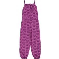 Maxomorra Purple Cats Jumpsuit
