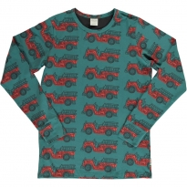 Maxomorra Adult Vintage Fire Truck LS Top