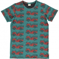 Maxomorra Adult Vintage Fire Truck SS Top