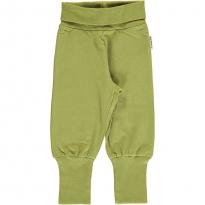 Maxomorra Apple Green Rib Pants