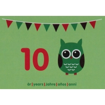 Maxomorra Birthday Card - Owl (10)