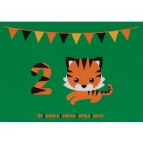 Maxomorra Birthday Card - Tiger (2)