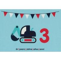 Maxomorra Birthday Card - Excavator (3)