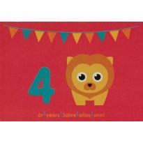 Maxomorra Birthday Card - Lion (4)
