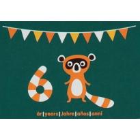 Maxomorra Birthday Card - Raccoon (6)