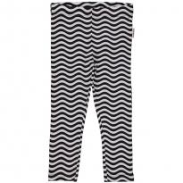 Maxomorra Black & White Waves Leggings