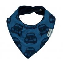 Maxomorra Blue Cars Dribble Bib