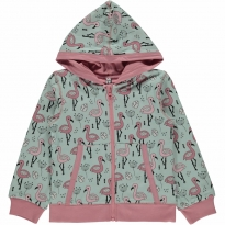 Maxomorra Sweet Flamingo Zip Hoody