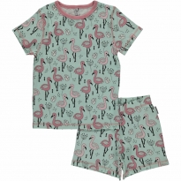 Maxomorra Sweet Flamingo Shortie Pyjamas