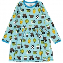 Maxomorra Garden LS Spin Dress
