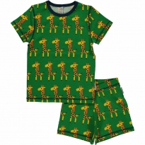 Maxomorra Giraffe Shortie Pyjamas