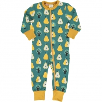 Maxomorra Golden Pear LS Zip Romper Suit