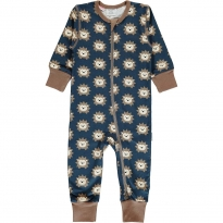 Maxomorra Hedgehog LS Zip Romper