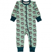 Maxomorra Raccoon LS Zip Romper