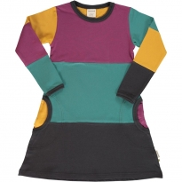 Maxomorra Multi Town Block LS Dress