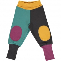 Maxomorra Multi Town Block Sweat Rib Pants