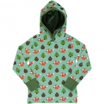 Maxomorra Busy Squirrel LS Hooded Top