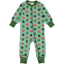Maxomorra Busy Squirrel LS Zip Romper
