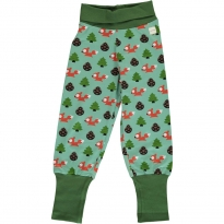 Maxomorra Busy Squirrel Rib Pants