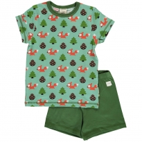 Maxomorra Busy Squirrel SS Pyjamas