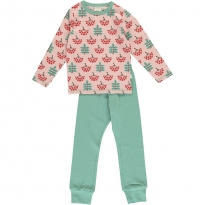 Maxomorra Ruby Rowanberry LS Pyjamas