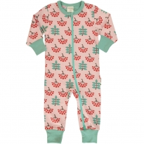 Maxomorra Ruby Rowanberry LS Zip Romper