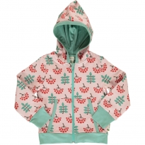 Maxomorra Ruby Rowanberry Hooded Cardigan