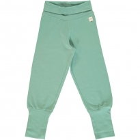 Maxomorra Soft Teal Rib Pants