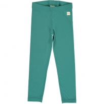 Maxomorra Solid Teal Leggings