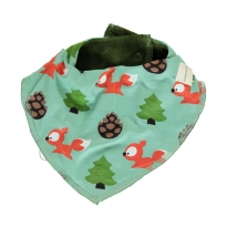 Maxomorra Busy Squirrel Velour Dribble Bib