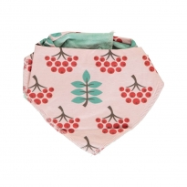 Maxomorra Ruby Rowanberry Velour Dribble Bib