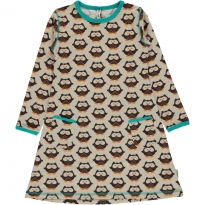 Maxomorra Long Sleeve Owl Dress