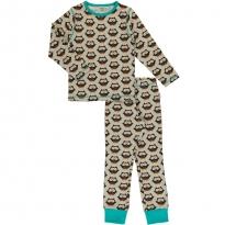 Maxomorra Long Sleeve Owl Pyjama Set