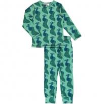 Maxomorra Long Sleeve Peacock Pyjama Set