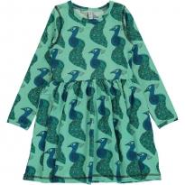 Maxomorra Long Sleeve Peacock Spin Dress