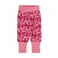 Maxomorra Pink Landscape Pants Rib