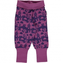 Maxomorra Purple Landscape Pants Rib
