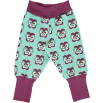 Maxomorra Purple Pansy Rib Pants
