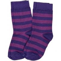 Maxomorra Purple Stripe Socks 2 Pack