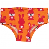Maxomorra Orange Rabbit Knickers