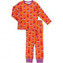 Maxomorra Orange Rabbit LS Pyjamas