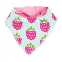 Maxomorra Raspberry Dribble Bib