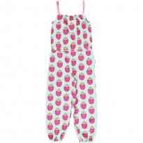 Maxomorra Raspberry Long Jumpsuit