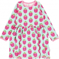 Maxomorra Raspberry LS Spin Dress