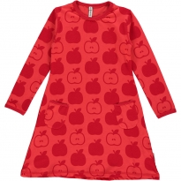 Maxomorra Red Apples LS Dress