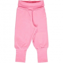 Maxomorra Rose Pink Rib Pants