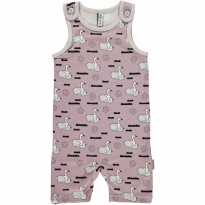 Maxomorra Swan Baby Pond Short Dungarees