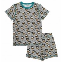 Maxomorra Arrow Monkey Shortie Pyjamas