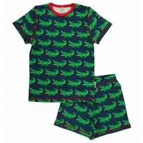 Maxomorra Crocodile Shortie Pyjamas